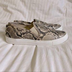 Steve Madden snakeskin print slip-on sneakers